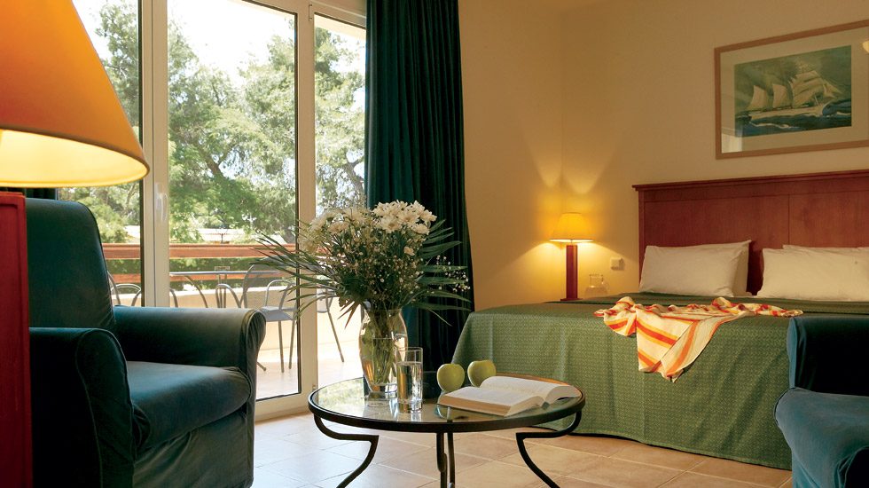 Family Room | Mediterranean-style rooms located in the family building overlooking the gardens