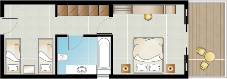 Pella Beach Family Room Floorplan