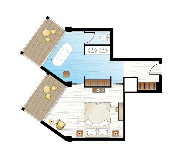 Pella Beach Junior Family Suite Floorplan