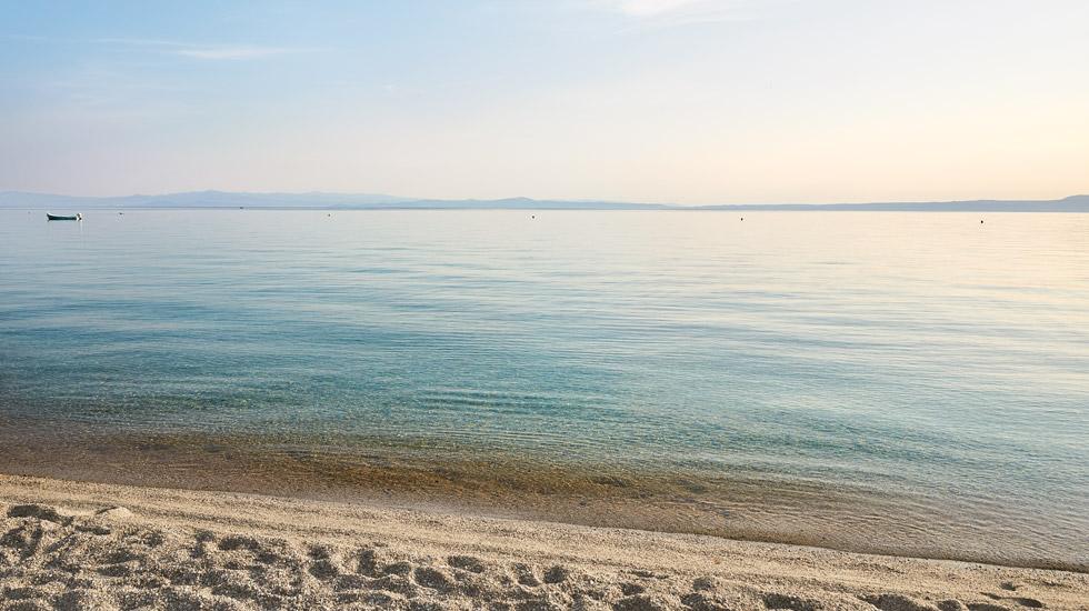 Sandy & pebbled beach